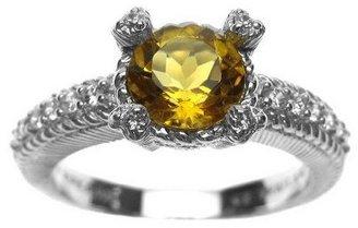 Judith Ripka Sterling Gemstone & Diamonique Ring