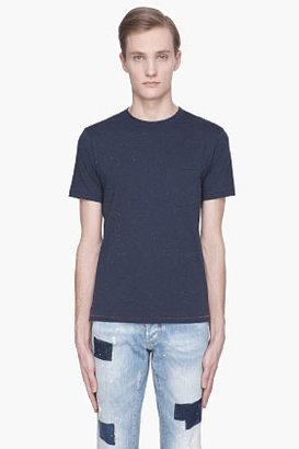 Rag and Bone RAG & BONE Navy blue Basic Confetti Pocket T-shirt