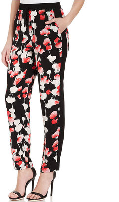 DKNY DKNYC Pants, Straight-Leg Printed Tuxedo Stripe