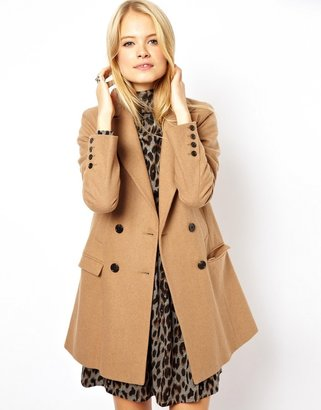 Asos Longline Double Breasted Coat