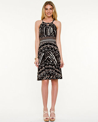 Le Château Bohemian Print Halter Neck Dress