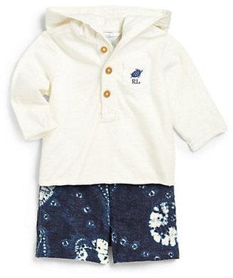 Ralph Lauren Infant's Two-Piece Hoodie & Cotton Shorts Set