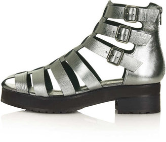 Topshop ALADIN Gladiator Strap Boots