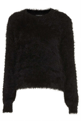 Topshop Knitted fluffy crew jumper