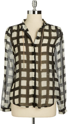 MICHAEL Michael Kors Chain-Embellished Blouse