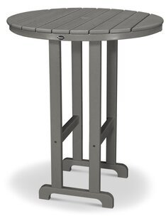 """Monterey Bay Bar Table Trex Outdoor Color: Stepping Stone, Table Top Size: 48"""""""