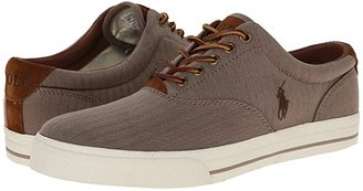 Polo Ralph Lauren Vaughn (Dark Khaki Chambray Herringbone/Sport Suede) Men's Lace up casual Shoes
