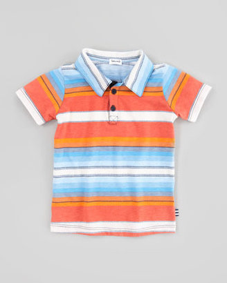 Splendid Littles Multi-Striped & Dash-Striped Jersey Polo, Sizes 4-6X