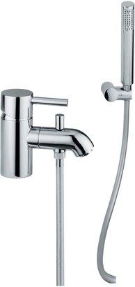 Abode Harmonie Low Pressure Single Lever Mono Bathroom Filler Tap with Shower Diverter