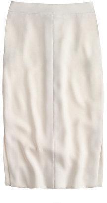 J.Crew Side-slit soft pencil skirt