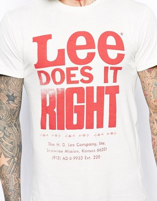 Lee T-Shirt Slim Fit Does It Right Print