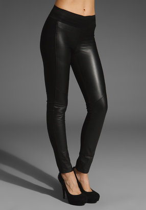 Paige Paloma Leather Front Pull On Legging