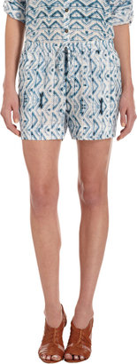 Twelfth St. By Cynthia Vincent by Cynthia Vincen Abstract Triangles Print Shorts