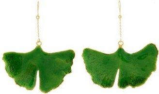Aurelie Bidermann Ginko Drop Earrings