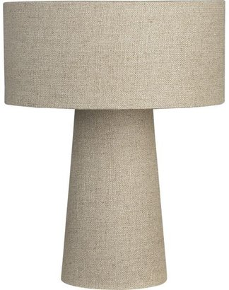 Crate & Barrel Lite Linen Shade Lamp.