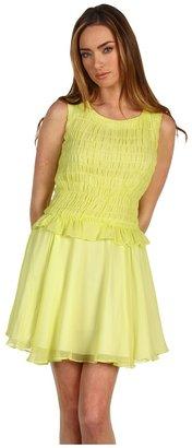 Z Spoke Zac Posen Chiffon Dress (Acid Yellow) - Apparel