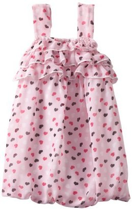 Little Lass Baby-Girls Newborn 1 Piece Bubble Creeper with Hearts and Flower Accent
