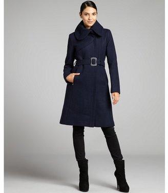 Soia & Kyo navy wool blend 'Mabel' peter pan collar coat