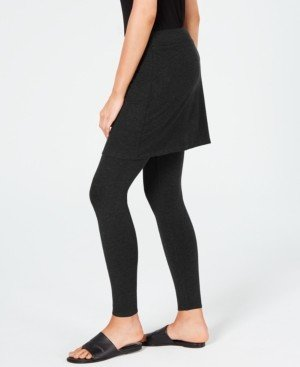 Eileen Fisher System Stretch Jersey Knit Skirted Leggings, Regular & Petite, Created for Macy's