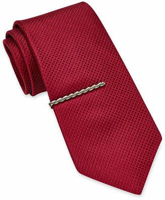 Asstd National Brand Gun Metal Twisted Rope Tie Bar