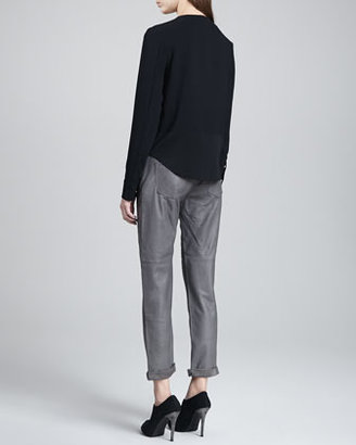 J Brand Ready to Wear Sonia Long-Sleeve Blouse