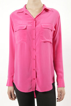 "Equipment Signature"" Button Down - Fuscia"