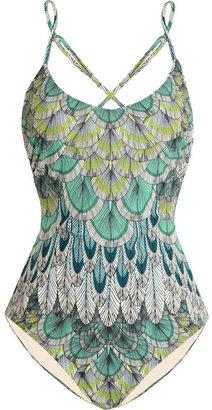 Mara Hoffman Feather-print swimsuit