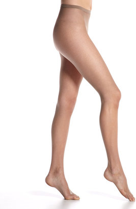 Hue Fine Fishnet Tights, Nude