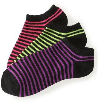 Aeropostale 3-Pack Feeder Stripe Ped Socks