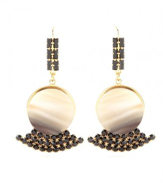 Marni Crystal-embellished horn earrings