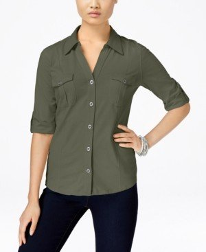 Style&Co. Style & Co Utility Shirt, Created for Macy's