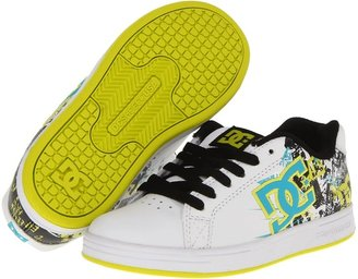 DC Kids - Character (Little Kid/Big Kid) (White/Turquoise/Soft Lime) - Footwear