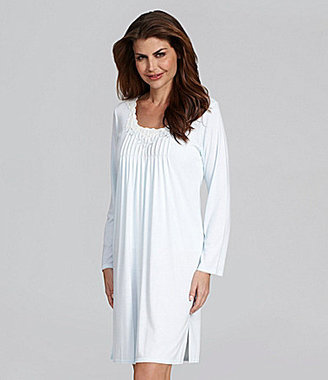 Miss Elaine Sofiknit Long Sleeve Short Gown