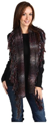 Splendid Chunky Ombre Scarf (Burgundy) - Accessories