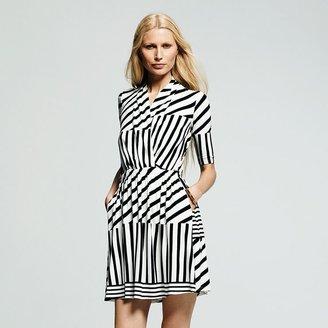 Peter Som for designation striped surplice dress - women's