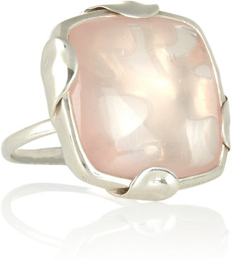 Monica Vinader Sterling silver quartz ring