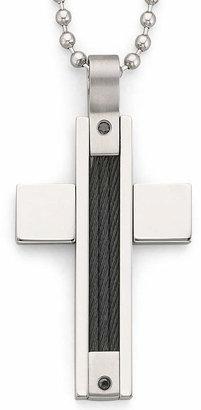 Black Diamond FINE JEWELRY Mens Color-Enhanced Cross Pendant Necklace