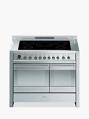 Smeg A2PYID-8 Induction Hob Range Cooker, Stainless Steel