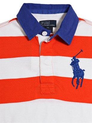Ralph Lauren Striped Interlock Cotton Polo