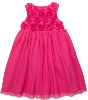 Carter's Sateen and Tulle Sleeveless Dress