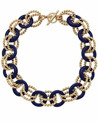 Kenneth Jay Lane Gold-Plated and Resin Link Necklace