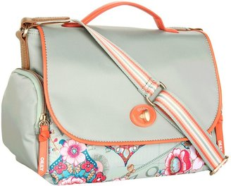 Oilily Fantasy Floral M Shoulder Bag (Solid Pistachio) - Bags and Luggage