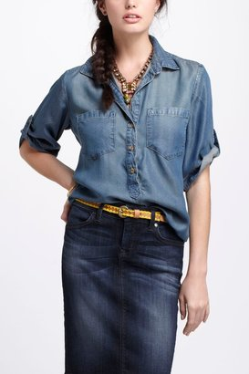 Anthropologie Pindot Chambray Shirt