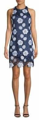 Eliza J Embroidered Floral Lace Sheath Dress