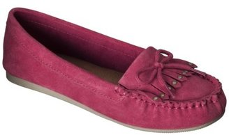 Mossimo Women's Lenia Genuine Suede Moccasin - Red