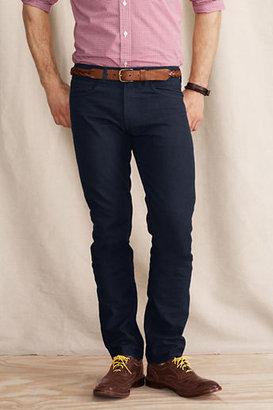 Lands' End Men's 5-Pocket 608 Slim Canvas Indigo Pants