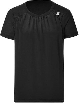 Salvatore Ferragamo Silk/Jersey Short Sleeve T-Shirt