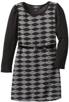 Amy Byer Girls 7-16 Long Sleeve Scoopneck Aline Sweaterdress