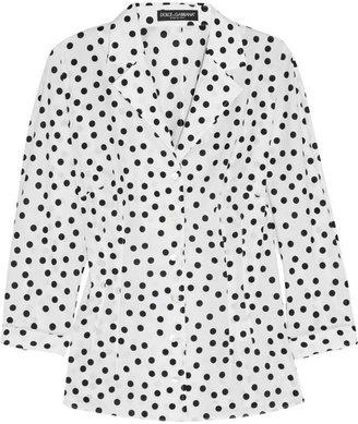 Dolce & Gabbana Polka-dot stretch-cotton shirt