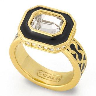Coach Op Art Stone Ring